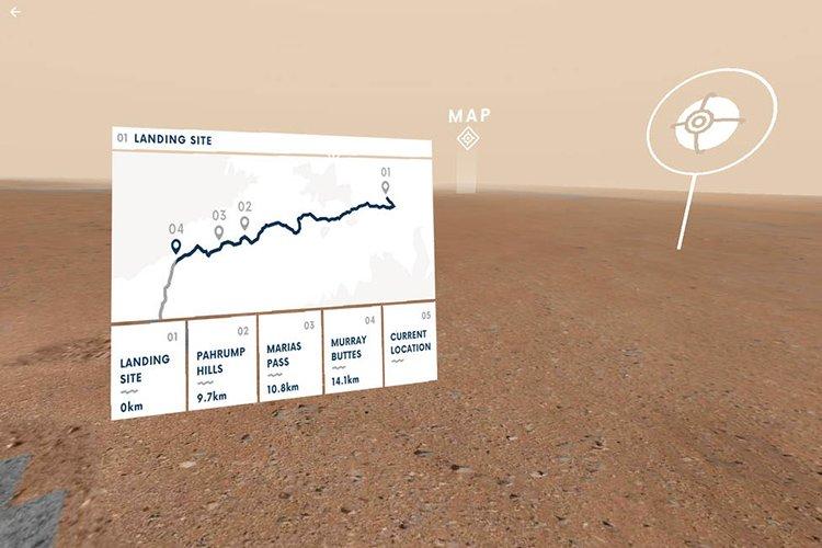 بخشی از نرمافزار تحت وب تور مجازی مریخ