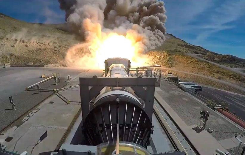 تست گرم بوستر موشک SLS