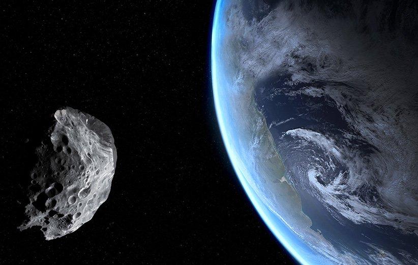 طرح گرافیکی یک سیارک با اندازهی خودروهای RV