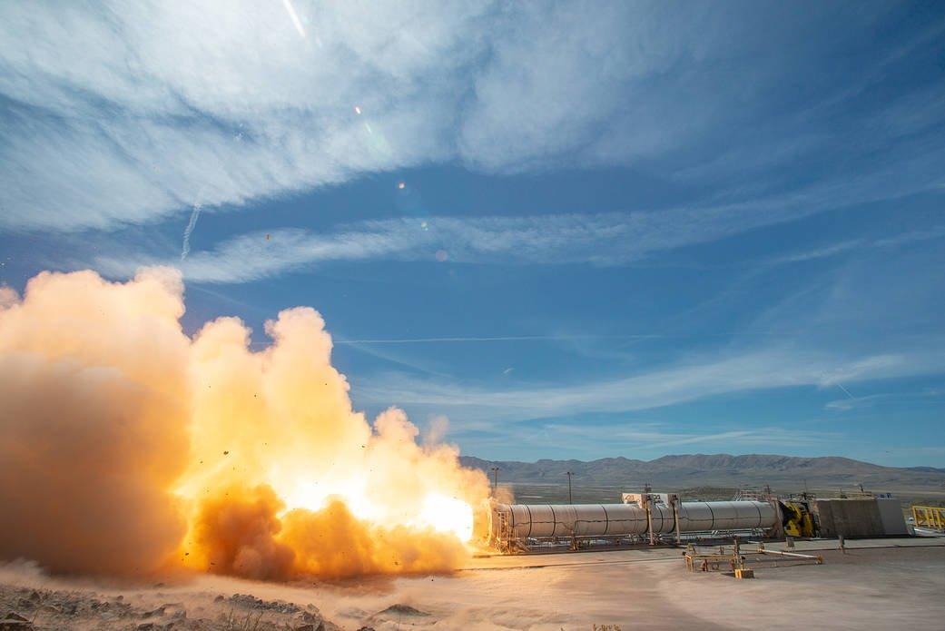 آزمایش آتش داغ موشک سامانهی پرتاب فضایی ناسا