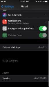جیمیل به عنوان اپ پیشفرض iOS