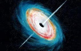 طرح گرافیکی یک سیاهچالهی کلان جرم