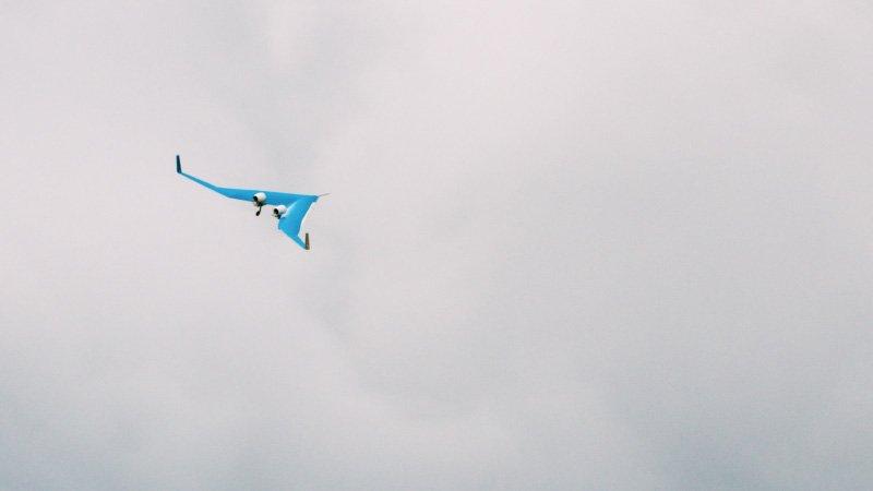 نمونهی به پرواز درآمده از هواپیمای Flying-V