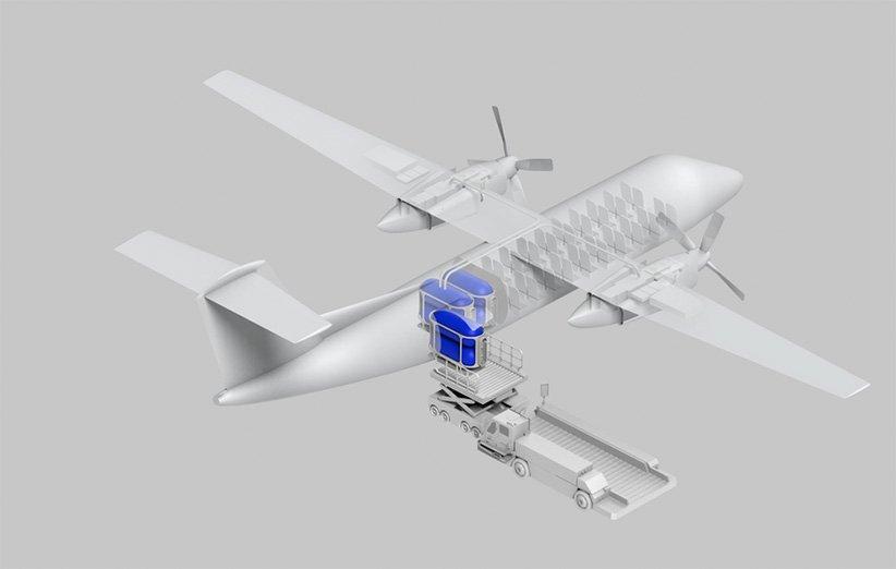 قرارگیری مخازن هیدروژن در هواپیما