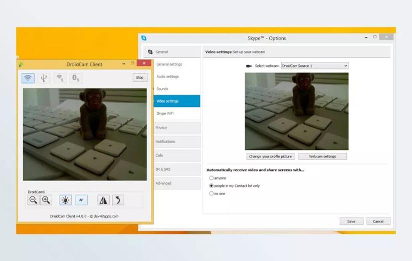 برنامهی DroidCam
