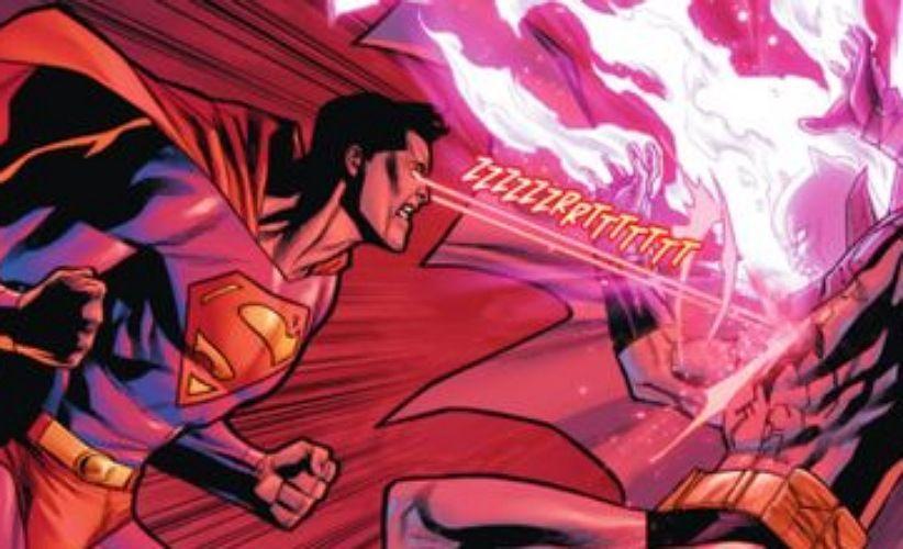 تصویری از مبارزه بتمن و سوپرمن در کمیکها