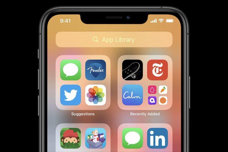 App Library در iOS 14
