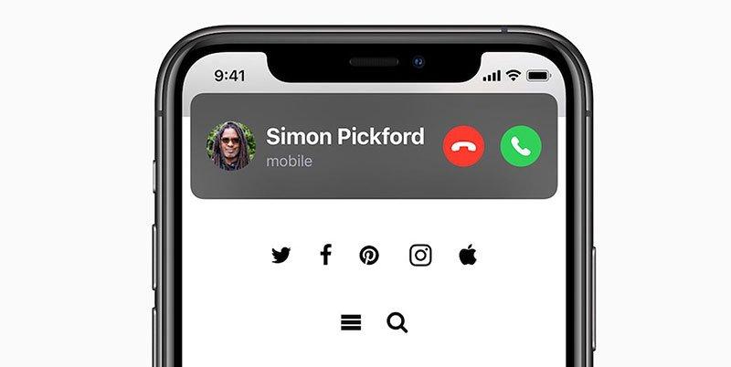 نوتیفیکیشن تماس تلفنی در iOS 14