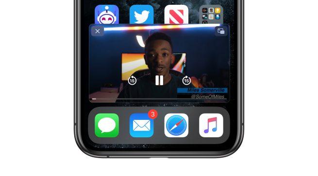 قابلیت تصویر در تصویر در iOS 14