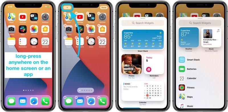 اضافه کردن ویجتها در iOS 14