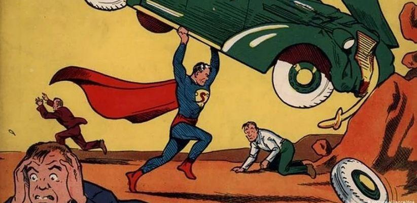تصویری از کمیکهای قدیمی سوپرمن