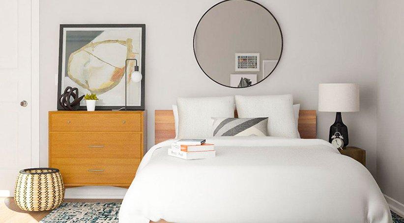 مدل تخت خواب ساده برای اتاق خواب کوچک