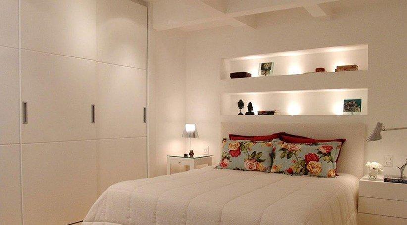 مدل دکور اتاق خواب کوچک ساده مدرن