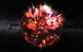 طرحی گرافیکی از یک ستارهی نوترونی