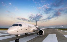 هواپیمای ACJ 220 ایرباس بر روی باند