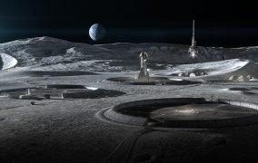 طرحی از زیرساختهای چاپ سهبعدی شدهی ماه توسط ICON