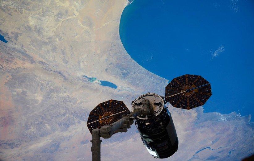 اتصال فضاپیمای سیگنوس NG14 به ایستگاه فضایی بینالمللی