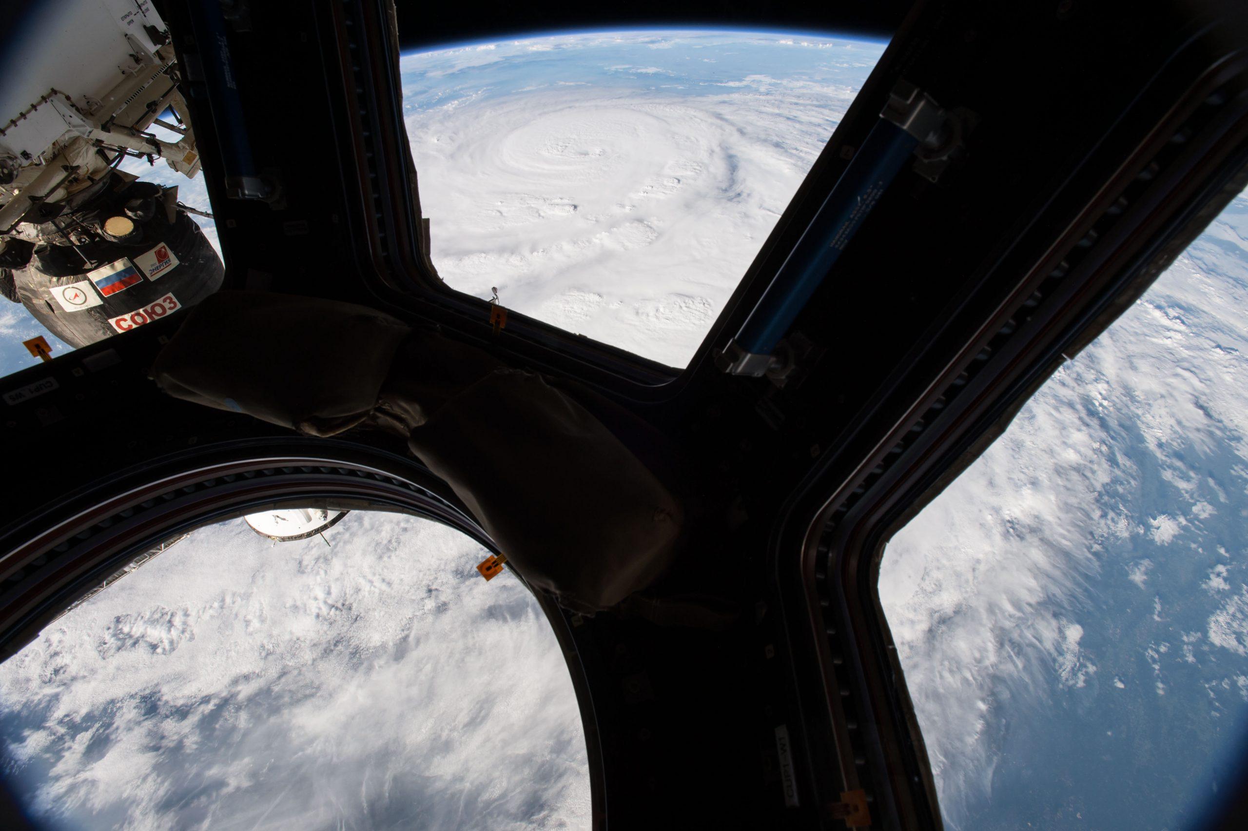 طوفان هاروی از نگاه اتاقک رصد زمین کوپولا