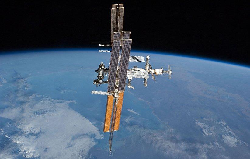 ایستگاه فضایی بینالمللی از نگاه شاتل فضایی آتلانتیس در سال 2011