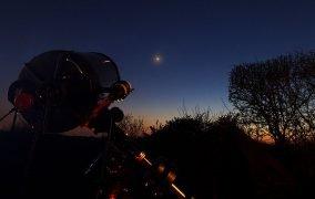 رصد مریخ با تلسکوپ