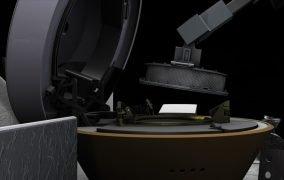 طرحی گرافیکی از فرآیند ذخیرهسازی نمونهی سطح سیارک بنو توسط فضاپیمای اسیریس رکس ناسا