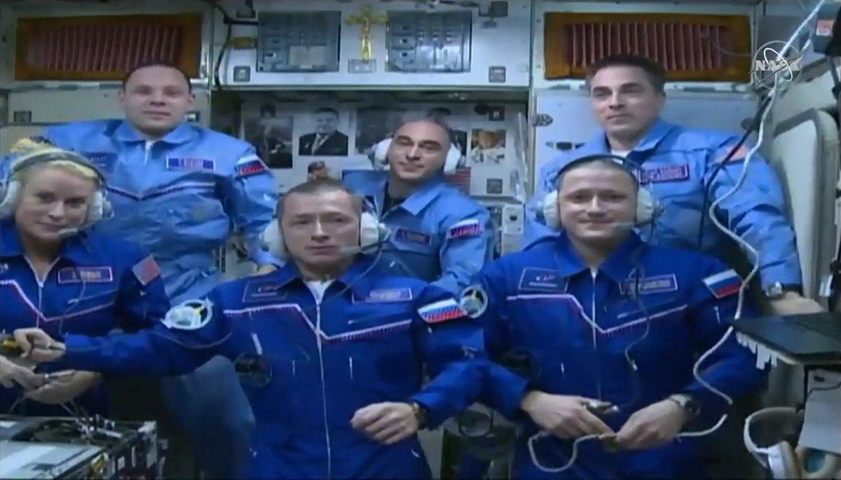 فضانوردان مأموریتهای اعزام 63 و 64 در ایستگاه فضایی بینالمللی