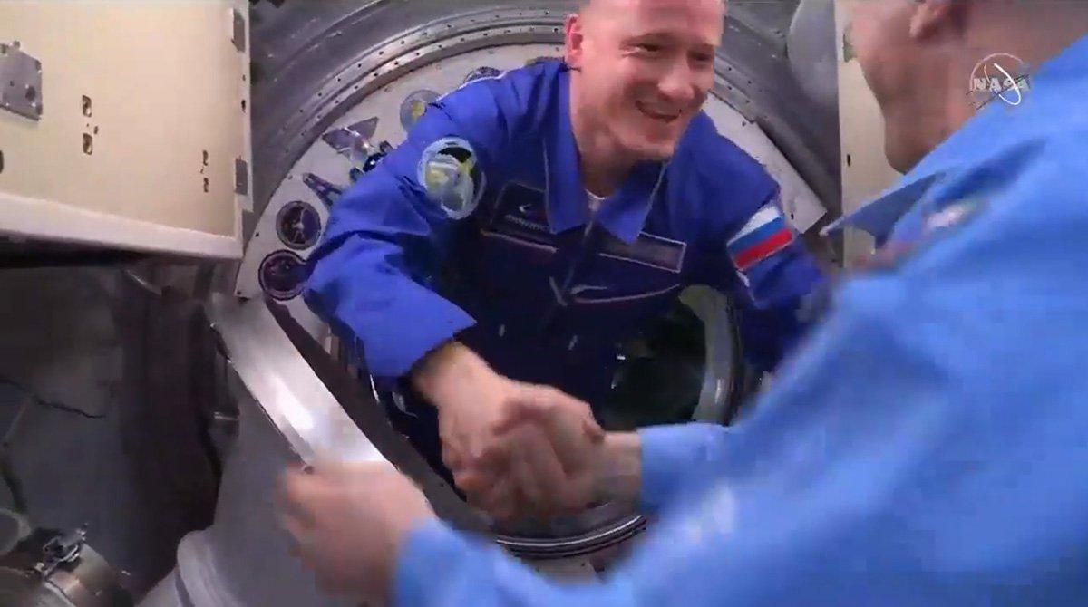 ورود فضانوردان اعزا 64 به ایستگاه فضایی بینالمللی