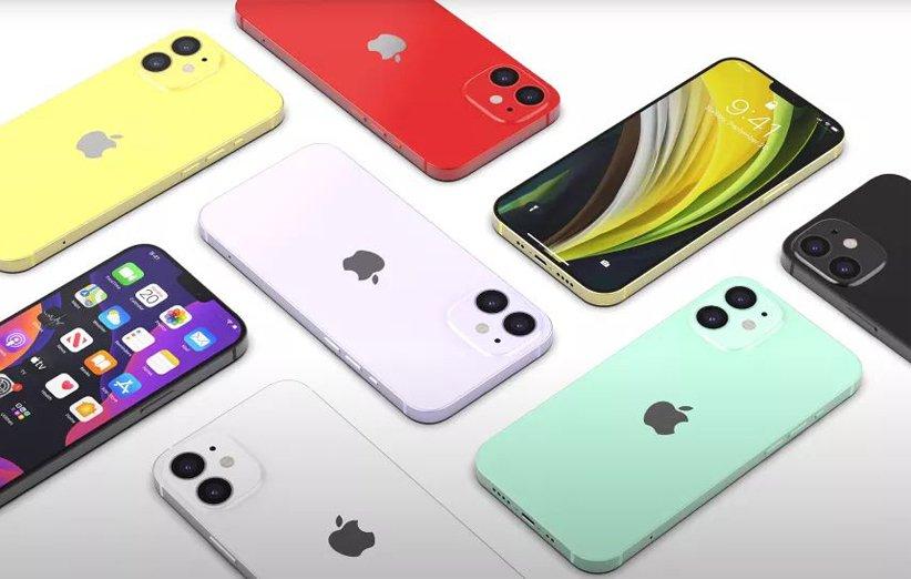 رنگبندی گوشی اپل آیفون 12 مینی
