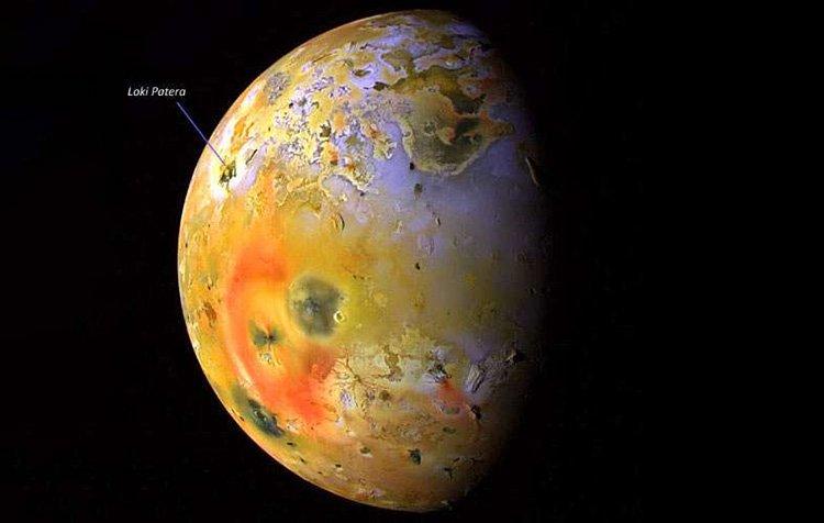 موقعیت آتشفشان لوکی پاترا در قمر آیو مشتری