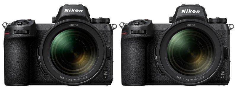 دوربین نیکون Z7 II در کنار دوربین نیکون Z7