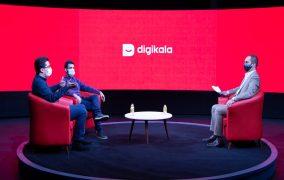 پیام خالقی و سعید موسوی زاده و نیما کرمی در حال صحبت در اولین رویداد از گردهمایی سالیانه کسب و کارهای فعال در دیجی کالا