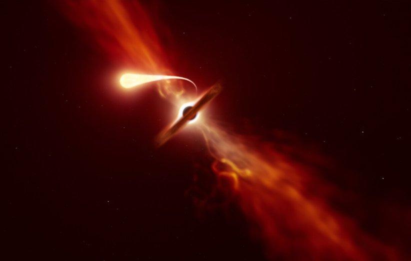 از هم پاشیده شدن یک ستاره بر اثر گرانش سیاهچاله