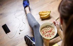 جلوگیری از پرخوری بعد از ورزش