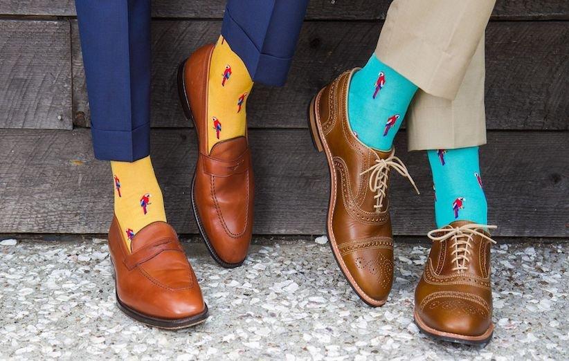 جورابهای رنگی چاپی