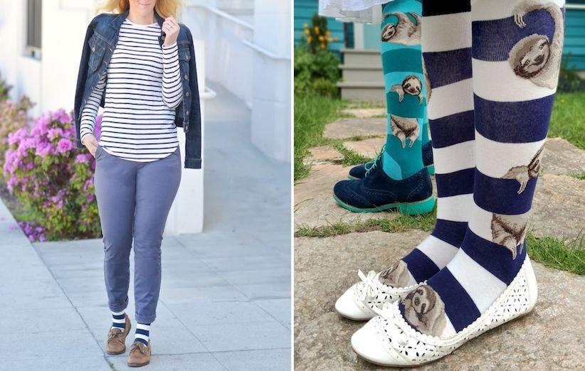 جورابهای رنگی راه راه