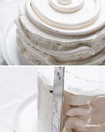 تزیین کیک با کارامل و قهوه