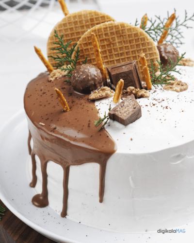 طرز تهیه کیک تولد قهوه و کارامل