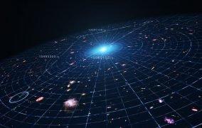 طرحی گرافیکی از اثر انرژی تاریک