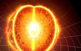طرحی گرافیکی از هستهی خورشید