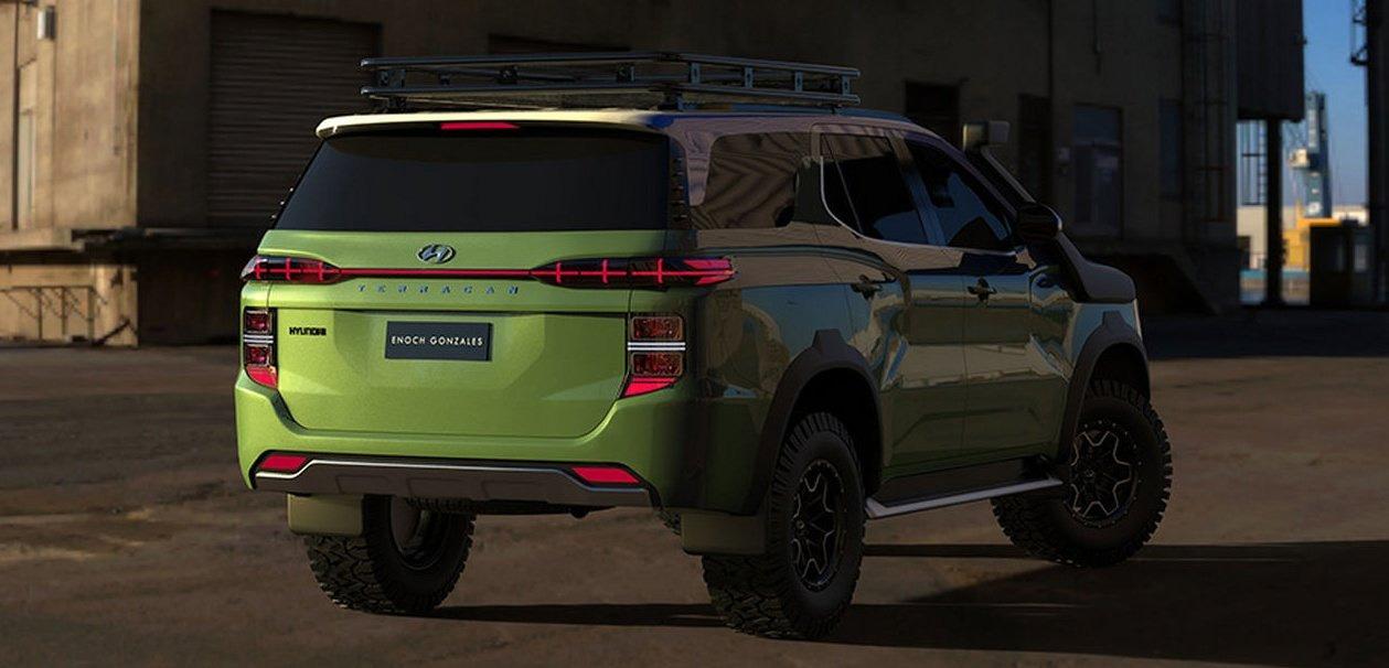 رندر غیررسمی خودروی آفرود هیوندای