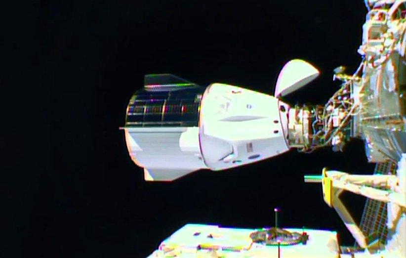 پیوستن کپسول کرو-1 دراگون به ایستگاه فضایی بینالمللی