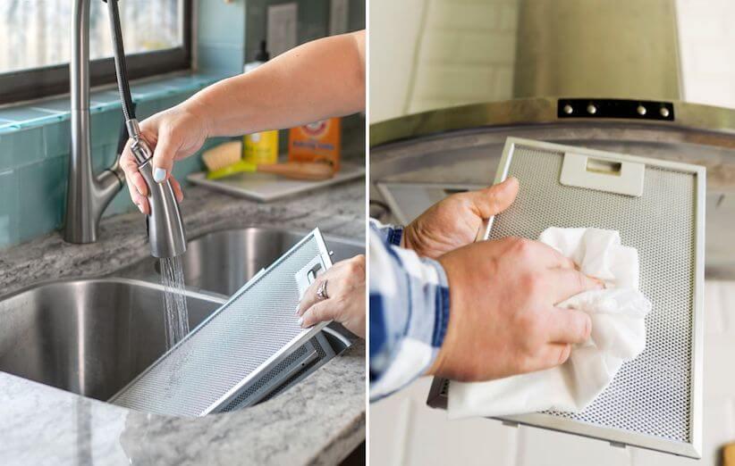 10 قدم برای تمیز کردن هود آشپزخانه - فیلترها را بشویید