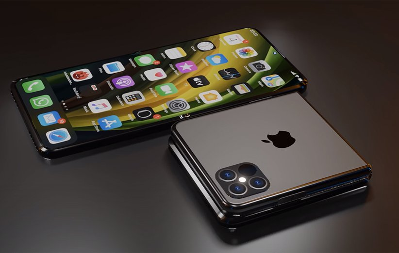 طرح مفهومی گوشی تاشوی اپل