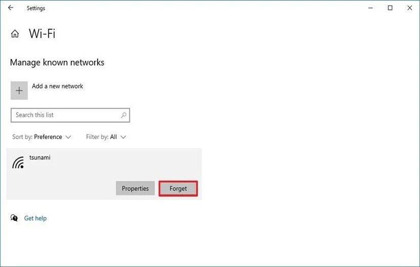 فراموش کردن شبکهی وایفای در ویندوز 10
