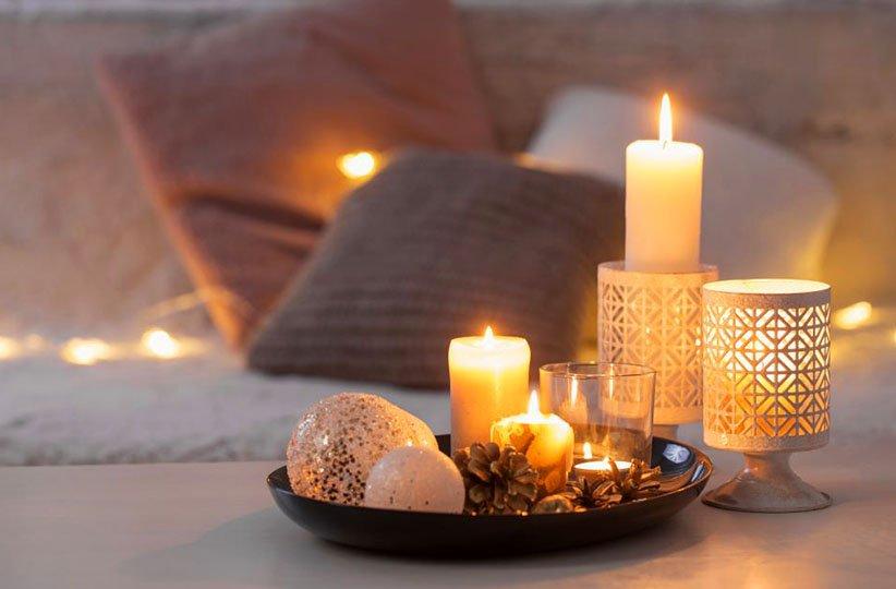 استفاده از شمع برای خوشبو کردن خانه