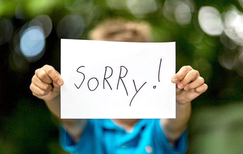 معذرت خواهی برای همه چیز
