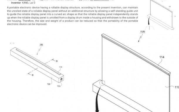 پتنت لپتاپ 17 اینچی الجی با نمایشگر رول شونده