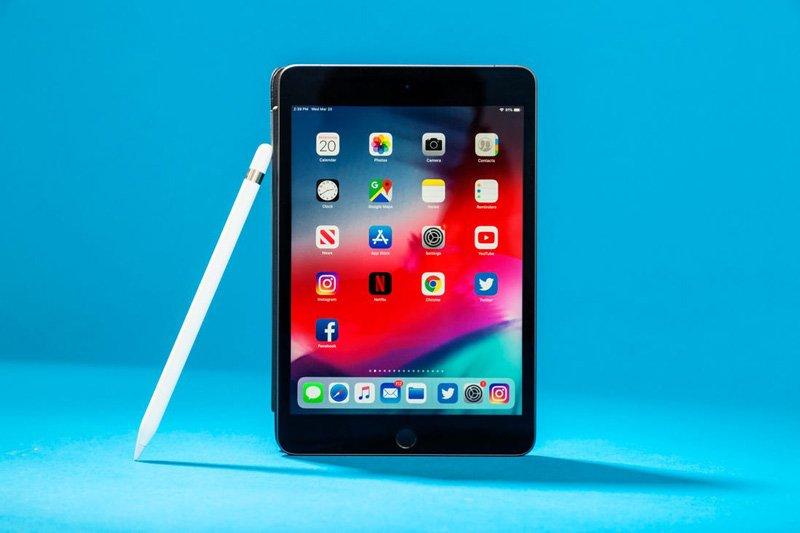 آیپد مینی 5 همراه با قلم اپل