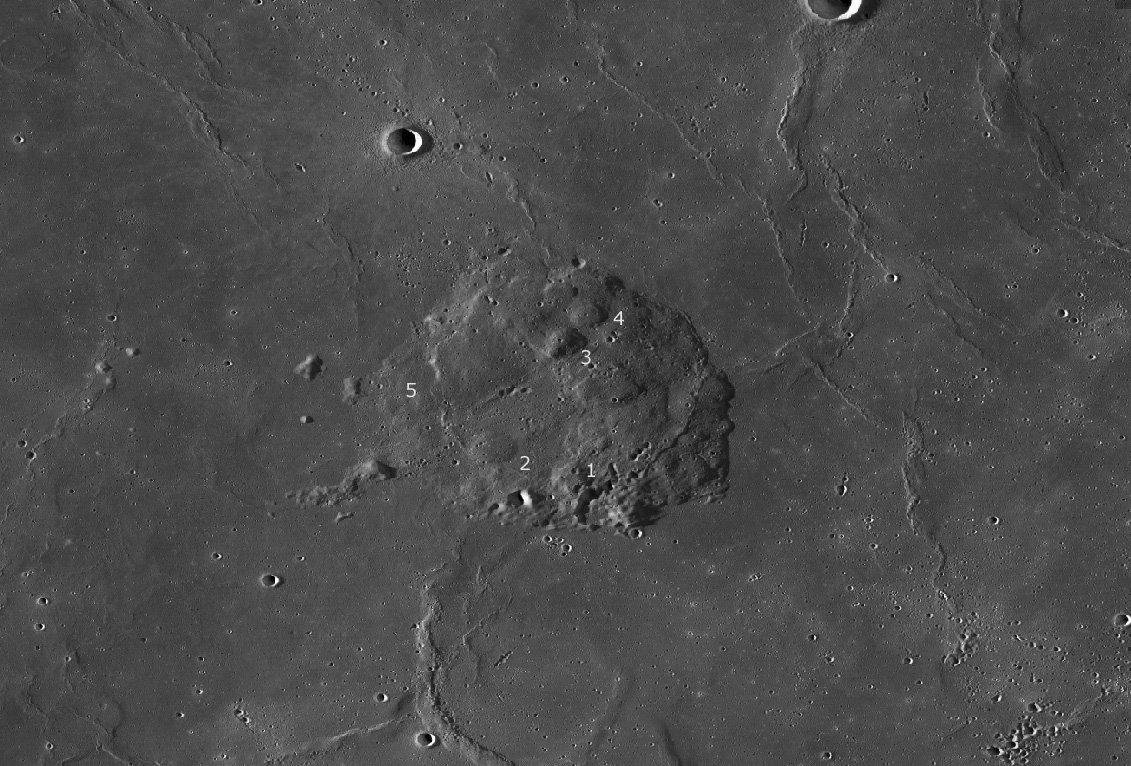منطقهی فرود مأموریت چانگای 5 چین به ماه