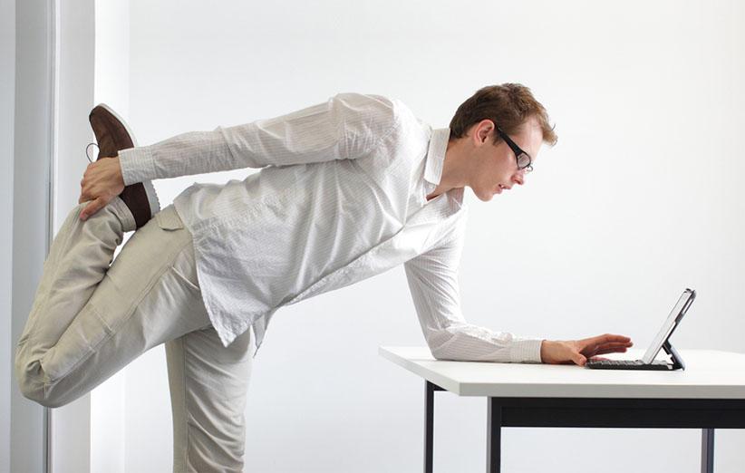 کاهش وزن در محل کار و با نرمشهای زمان بندی شده